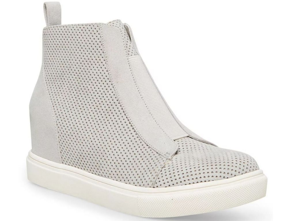 white zip up boots