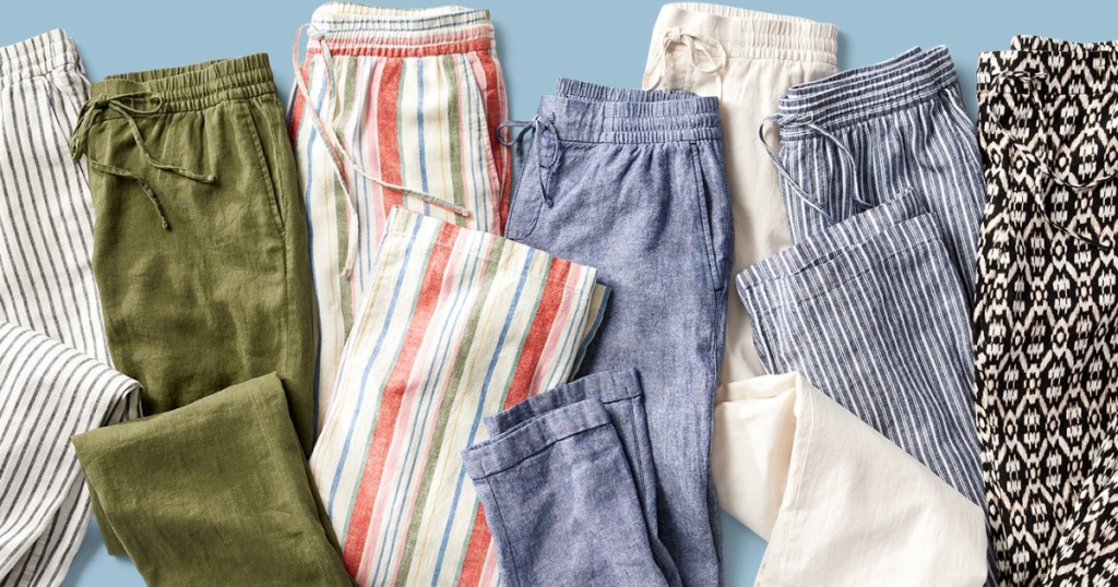 women's linen pants