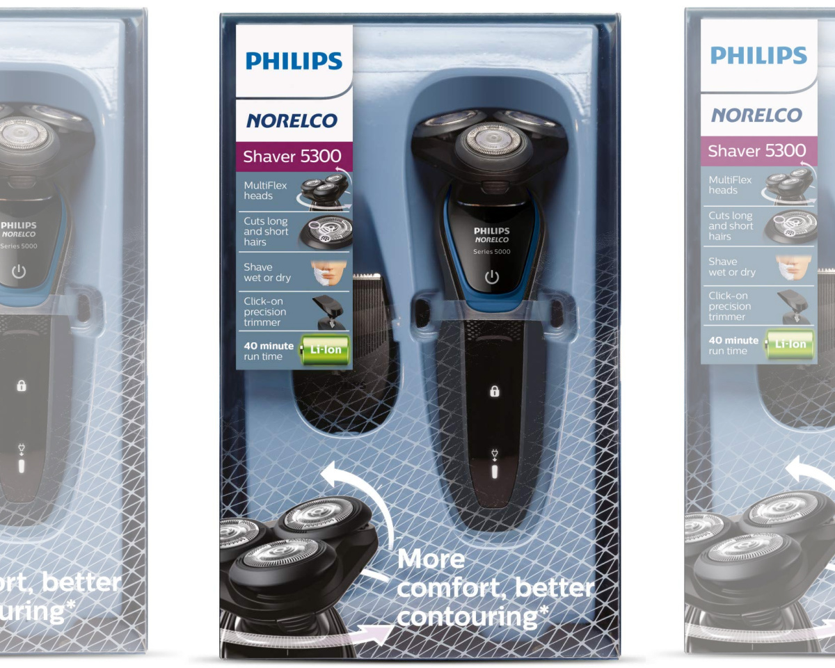 men's electric shaver packaging