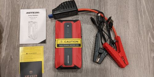 Portable Jump Starter Pack Only $49.99 Shipped on Amazon | Built-in LED Light