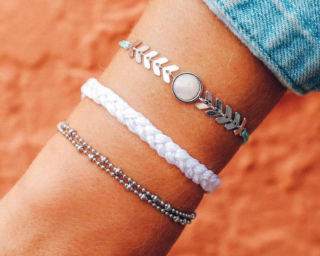 pura vida bracelet pack on arm