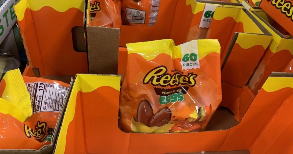Reese's Eggs on display in store