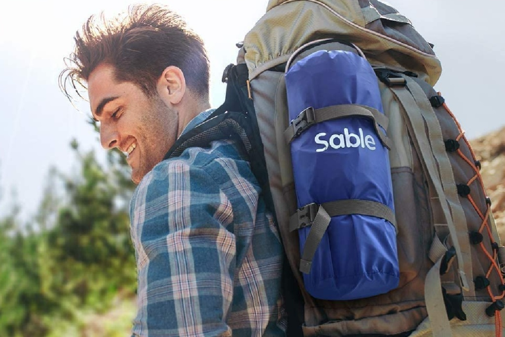 sable sleeping mat in backpack