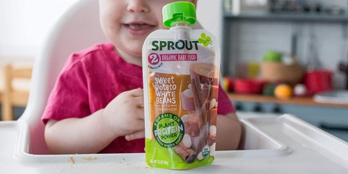 Sprout Organic Baby Food Pouches 12-Count Just $15.83 Shipped on Amazon (Regularly $27)