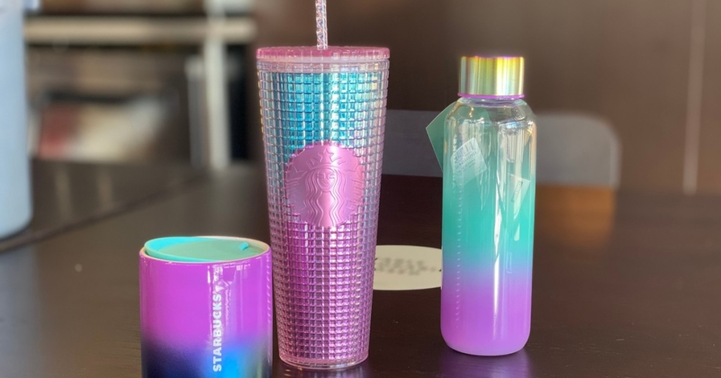 rainbow gradient tumblers from Starbucks