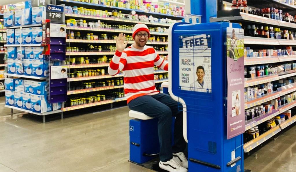 man at Walmart for April fools pranks