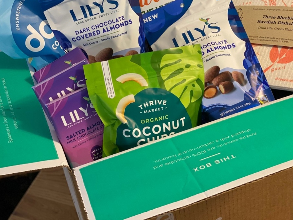 box of groceries from Thrive Market