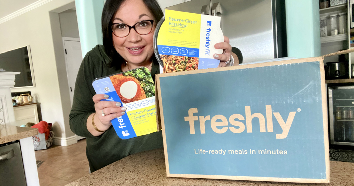 unboxing freshly fit meals