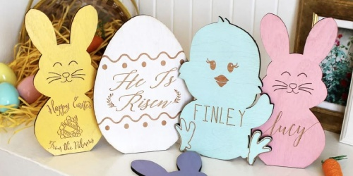Personalized Pastel Easter Wooden Decor Signs Only $10.99 Shipped (Regularly $24)