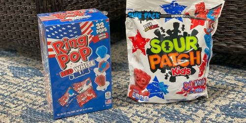 Limited Edition Red, White, & Blue Rings Pops & Sour Patch Kids at Sam's Club