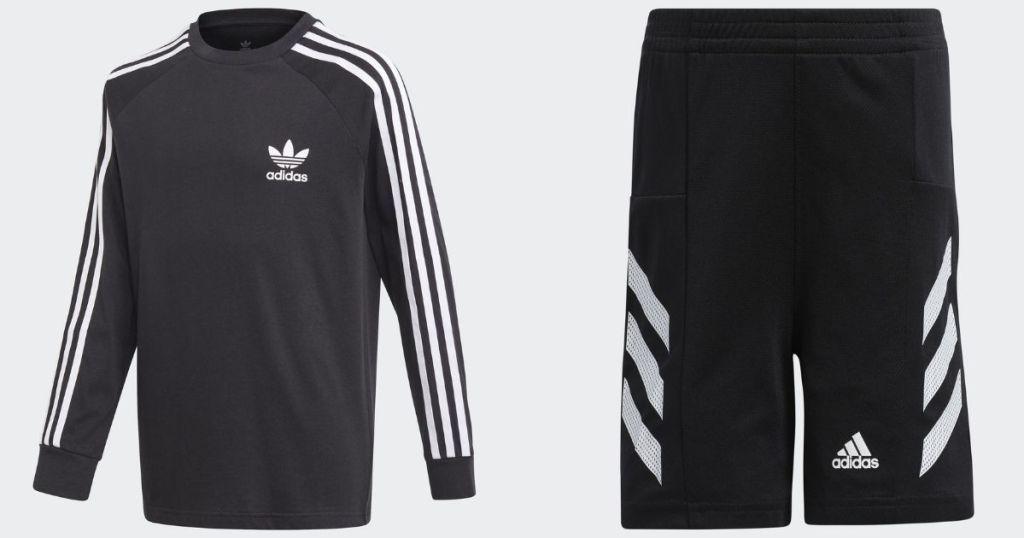 adidas kids shirt and shorts