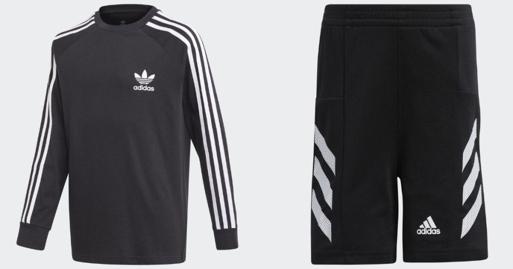 adidas kids shirt and shorts