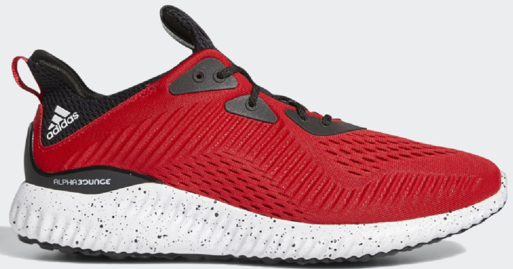 adidas red men's alphabounce shoes