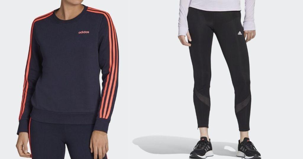 two women wearing adidas apparel