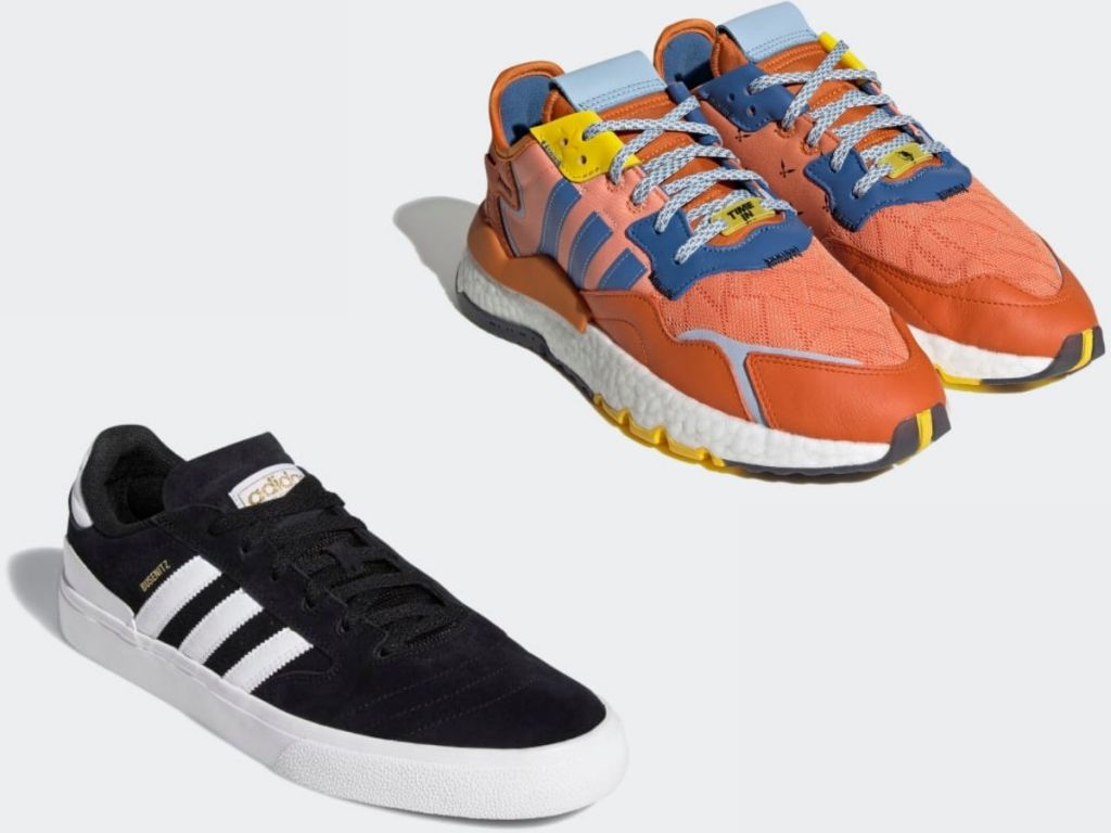 two different Adidas men's sneakers