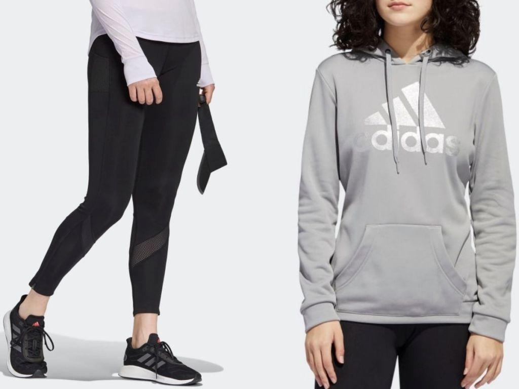 Adidas women's pants and sweatshirt