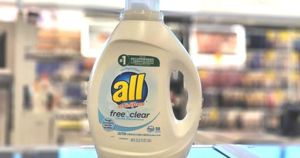 All Free Clear Laundry Detergent in store