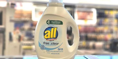 All Free & Clear 88oz Laundry Detergent Only $5 Shipped on Amazon (Regularly $12)