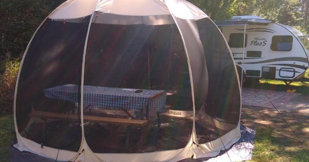 Alvantor Outdoor Pop-Up Screen Room by camper