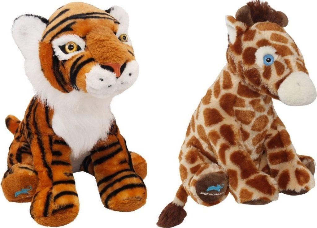 Animal Planet Stuffed Tiger and Giraffe Plush