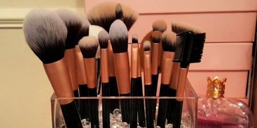 Highly Rated 16-Piece Makeup Brush Set & Clutch Only $7.99 on Amazon | Great Gift Idea!