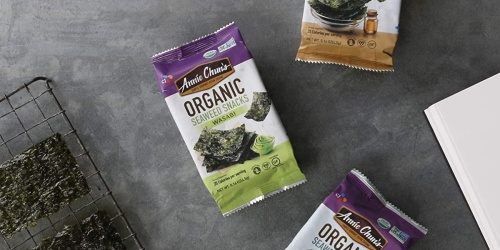 Annie Chun's Organic Seaweed Snacks 12-Count Only $5 Shipped on Amazon (Just 43¢ Each) | Keto-Friendly, Vegan, & Gluten-Free