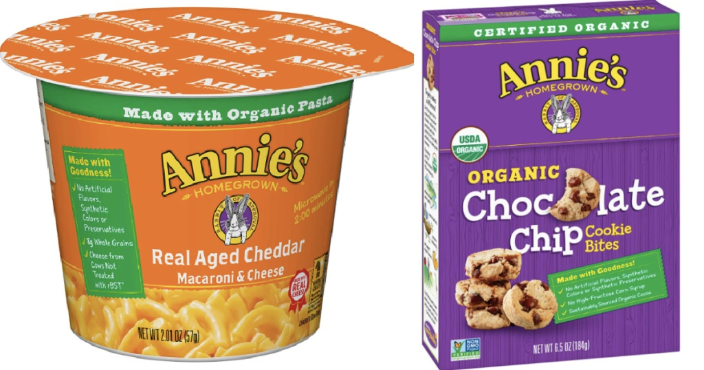 Annie's Macaroni & cheese and a box of cookies