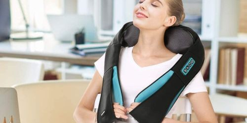 Got Neck or Back Pain? This Adjustable Heated Massager is Only $33.99 Shipped on Amazon