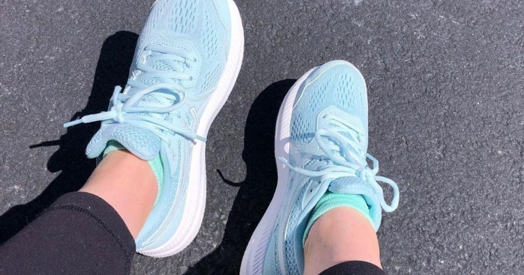 person wearing pair of Asics Women's Gel Contend 7 Sneakers