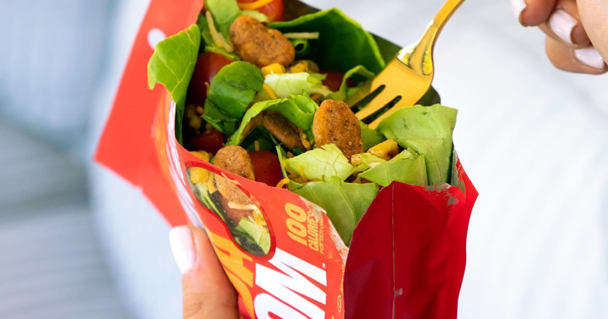 salad and snack beans in a bag