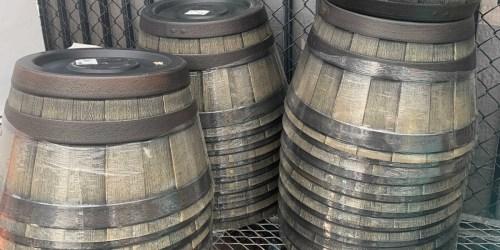 Oak Resin Barrel Planter Only $11.98 on Lowe's.com