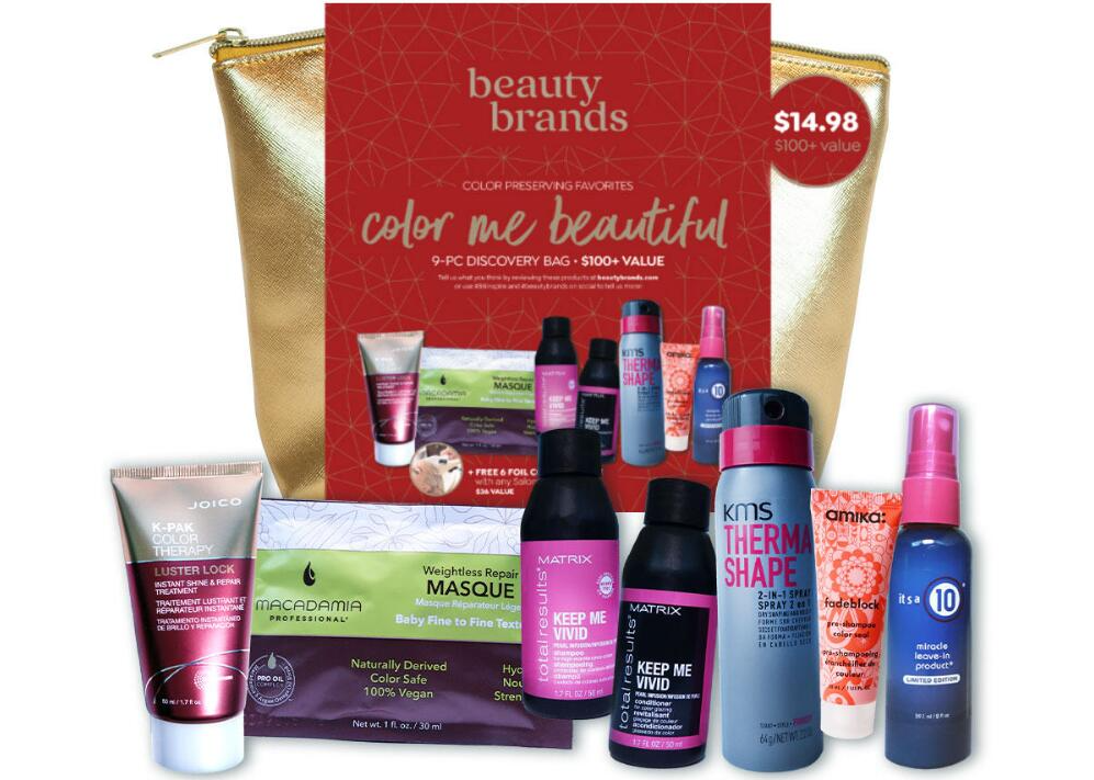 beauty bag and samples