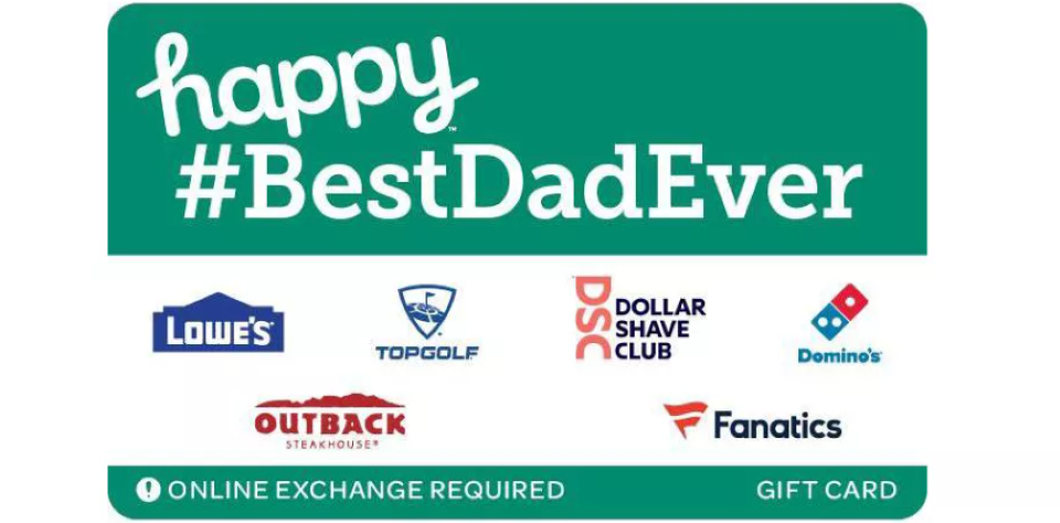 Best Dad Ever Gift Card