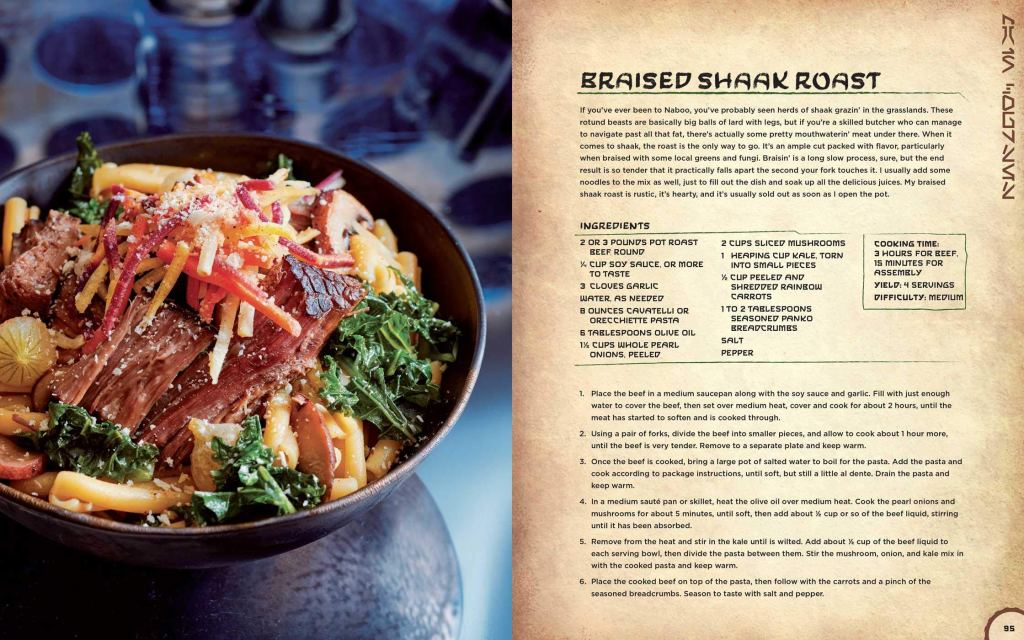 Braised Shaak Roast page picture from Star Wars cookbook