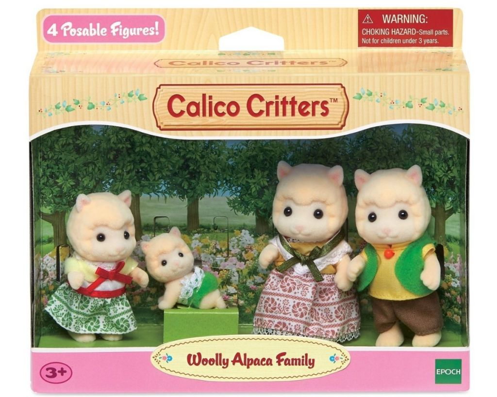 Calico Critters Woolly Alpaca Family in packaging