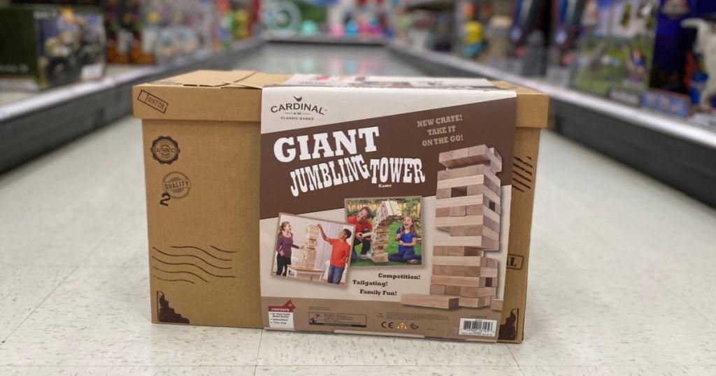 giant wooden blocks in brown box
