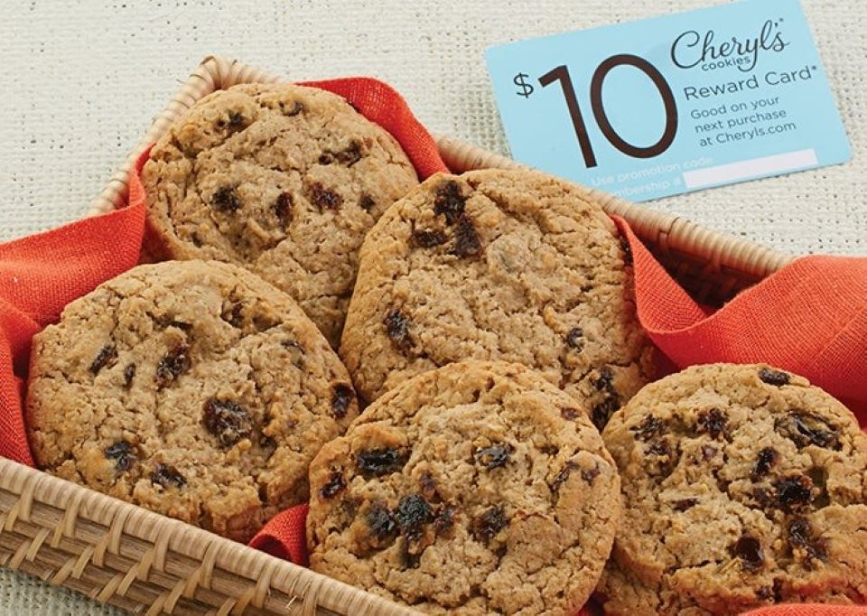 Cheryl's Oatmeal Raisin cookies on a tray