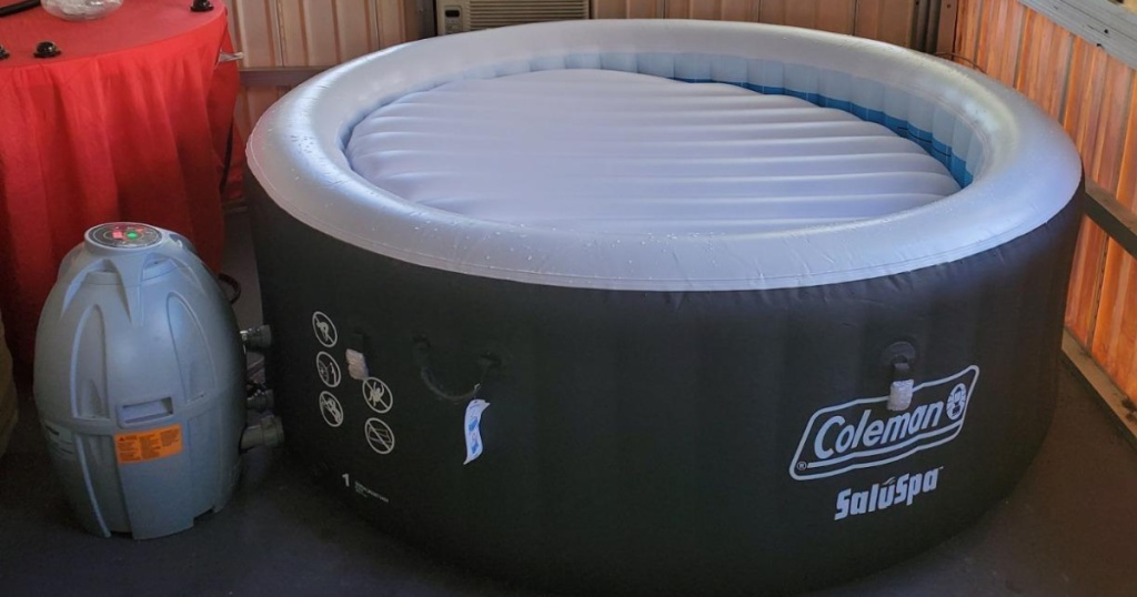 inflatable spa in small room