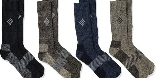 Columbia Men's Boot Socks 4-Pack Only $9.60 on Macys.com (Regularly $24)
