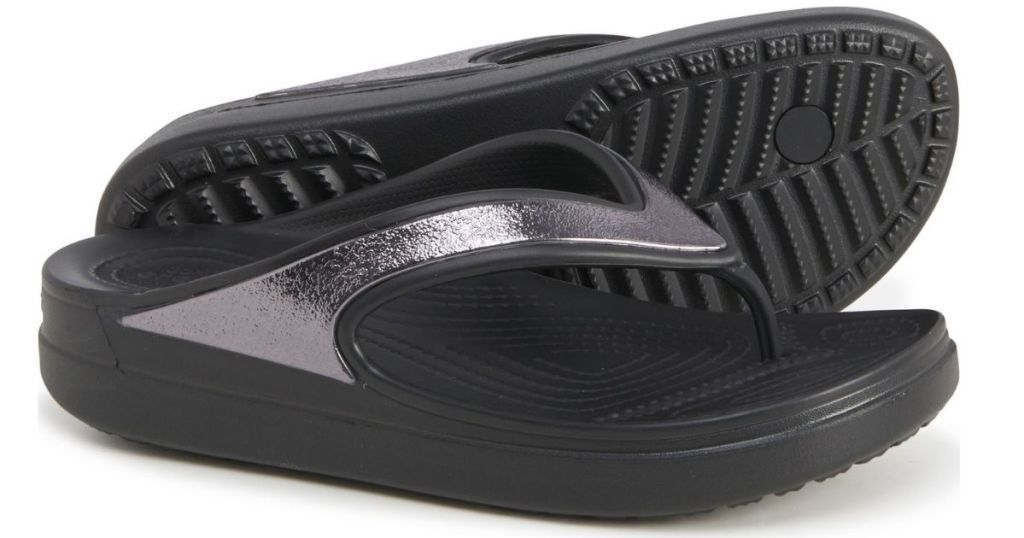 pair of Crocs Sloane Wedge