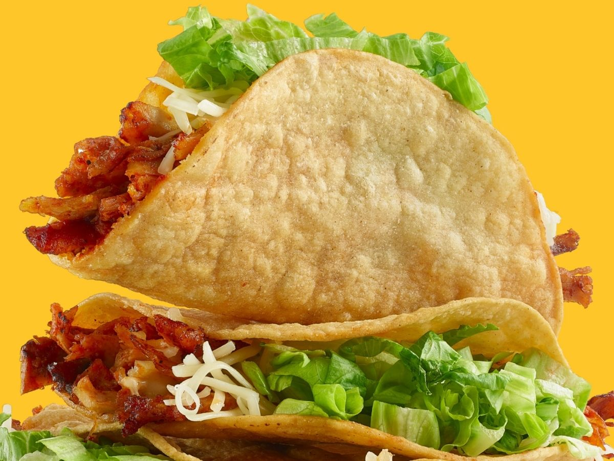 Two Crunchy Tacos with Bacon