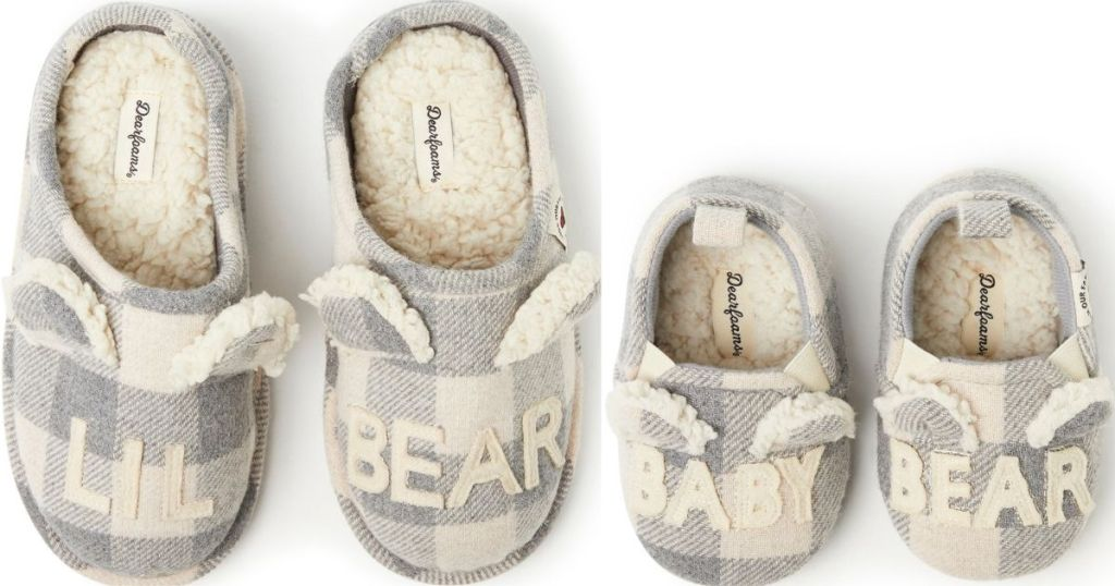 two pairs of kids slippers