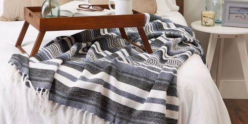 Farmhouse Striped Throw Blanket from $9 on Target.com + Up to 40% Off Home Decor