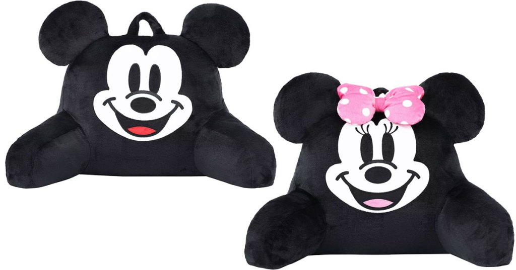 mickey and minnie mouse backrest pillows