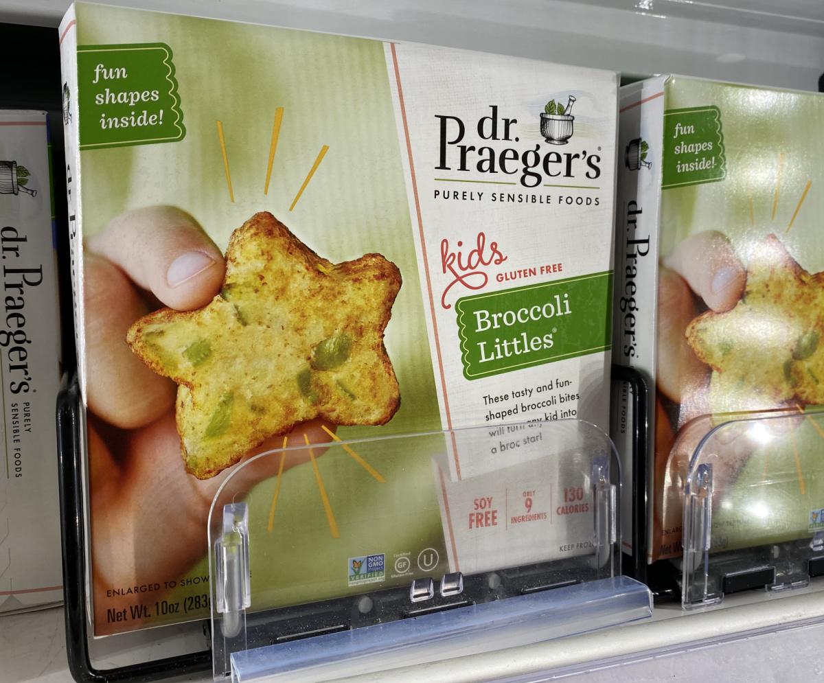 Dr Praeger's brand veggie snacks