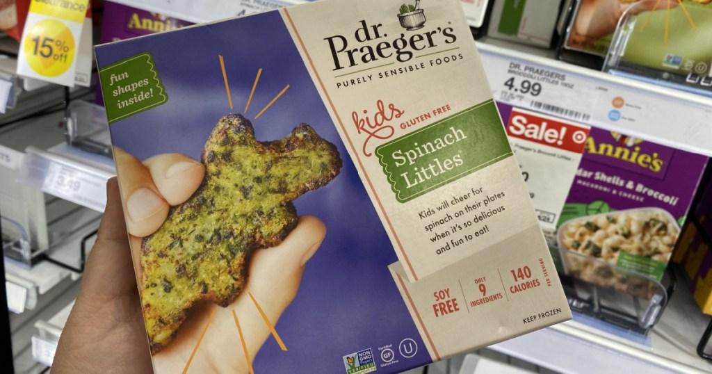 Dr. Praeger's kids snacks on display in-store