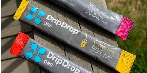 DripDrop ORS Electrolyte Powder 16-Count Sticks Only $10 Shipped on Amazon | Just 65¢ Each