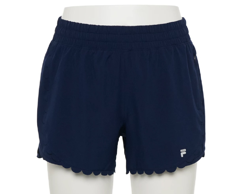 FILA shorts w/ scallop edge