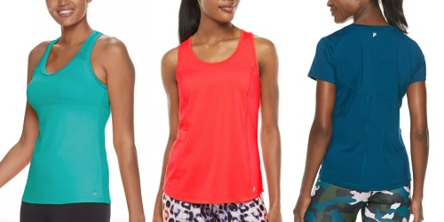 FILA Women's Activewear from $8.39 Shipped for Select Kohl's Cardholders (Regularly $25)