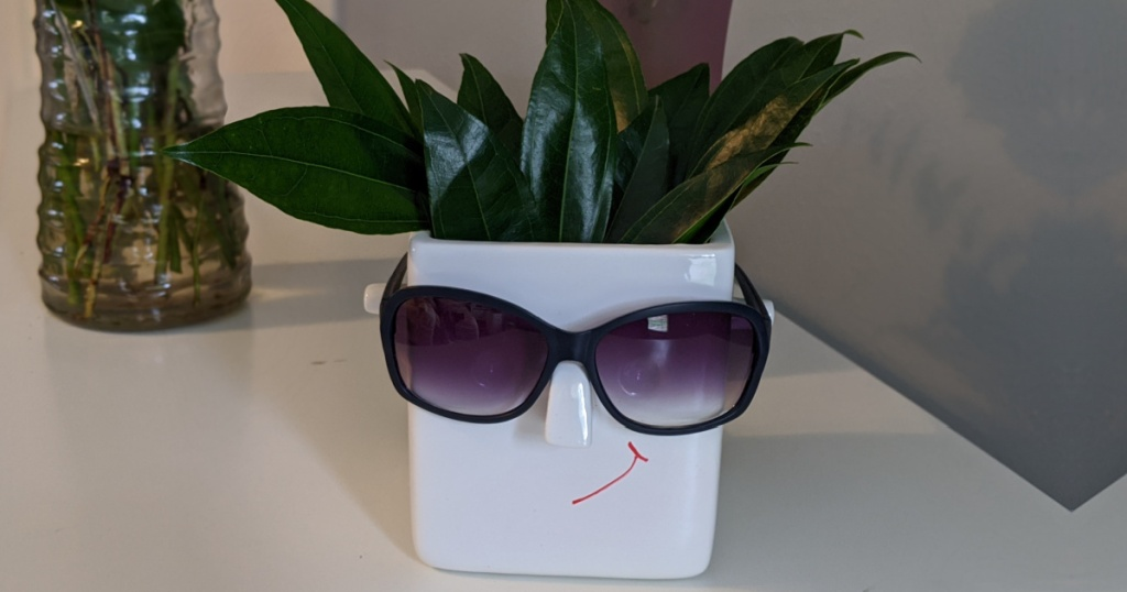 face planter wearing sunglasses